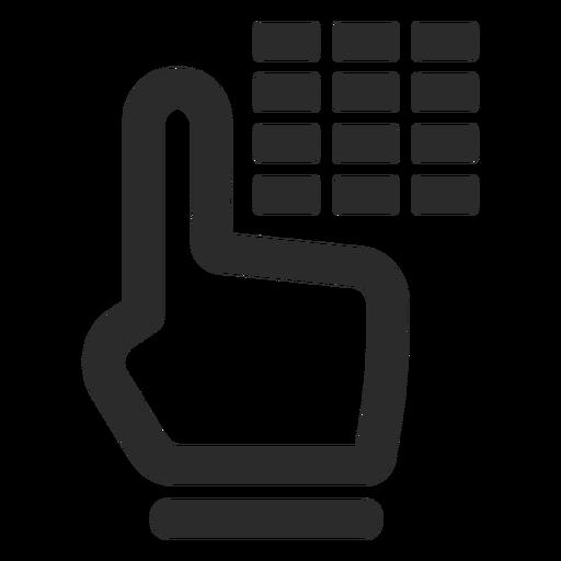 Ícone de traço de código de alarme Transparent PNG