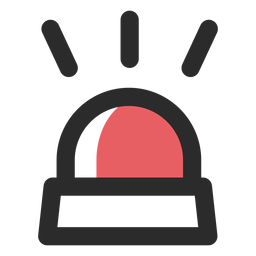 Ícone de traço colorido luz de alarme
