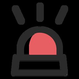 Icono de trazo de color claro de alarma