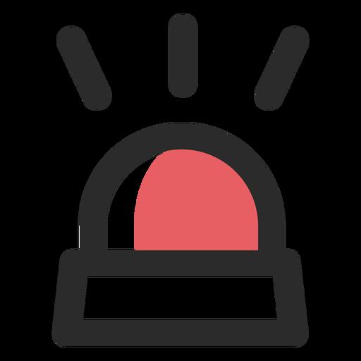 Ícone de traço colorido luz de alarme Transparent PNG