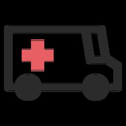 Ícone de traço colorido de ambulância