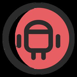 Ícone de traço colorido Android