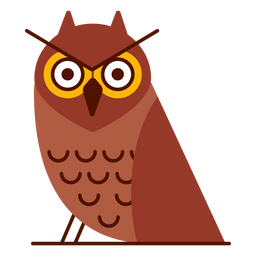 Angry owl illustration