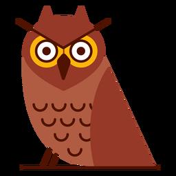 Ilustração de coruja com raiva