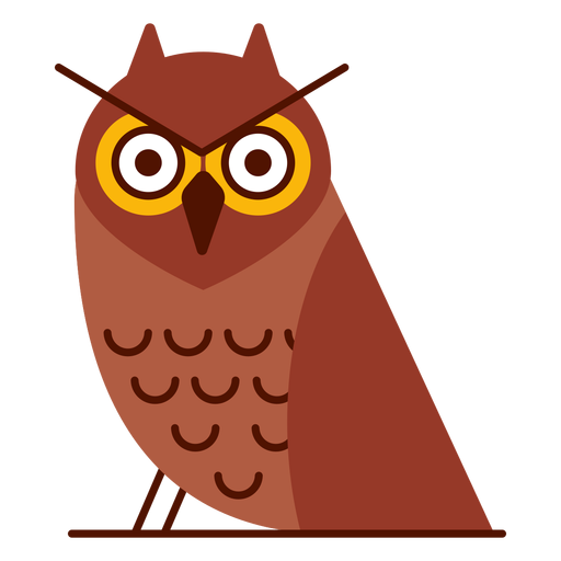Angry owl illustration Transparent PNG