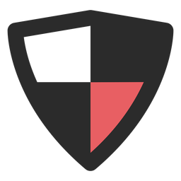 Antivirus shield colored stroke icon