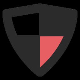 Ícone de traço colorido de escudo antivírus