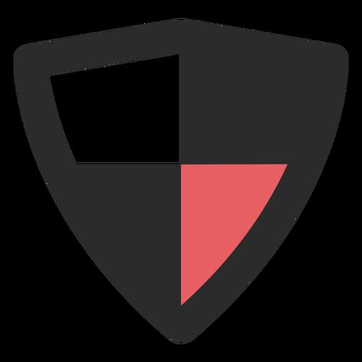 Ícone de traço colorido de escudo antivírus Transparent PNG