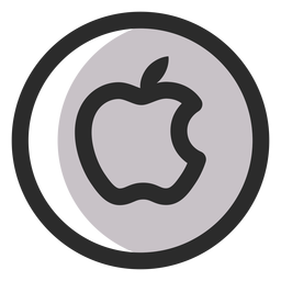 Apple farbiges Strich-Symbol