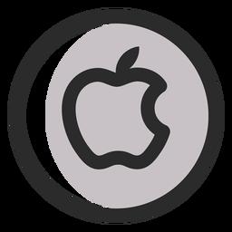 Icono de trazo de color manzana