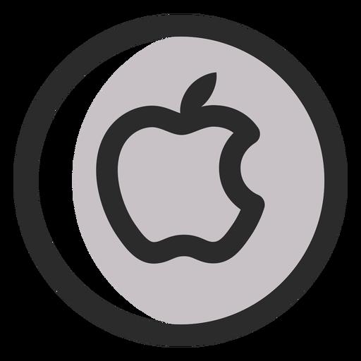 Ícone de traço colorido da Apple Transparent PNG
