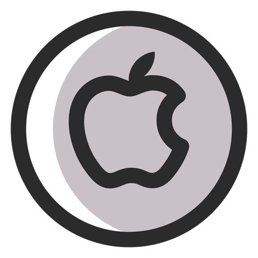 Apple colored stroke icon Transparent PNG