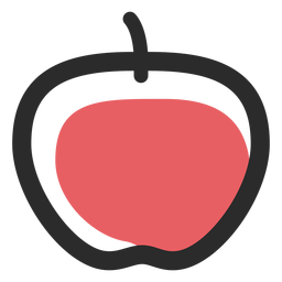 Ícones de esporte de ícone de traço colorido Apple
