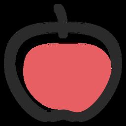 Icono de trazo de color manzana iconos deportivos