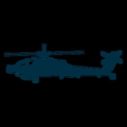 Silhueta de helicóptero de ataque
