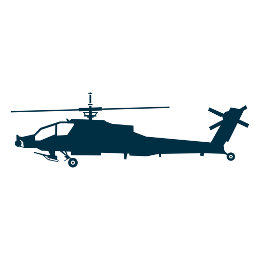 Attack helicopter silhouette Transparent PNG