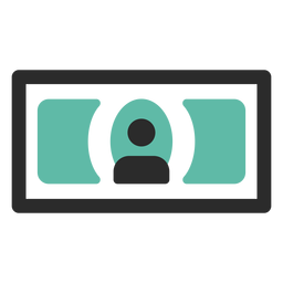 Banknote colored stroke icon