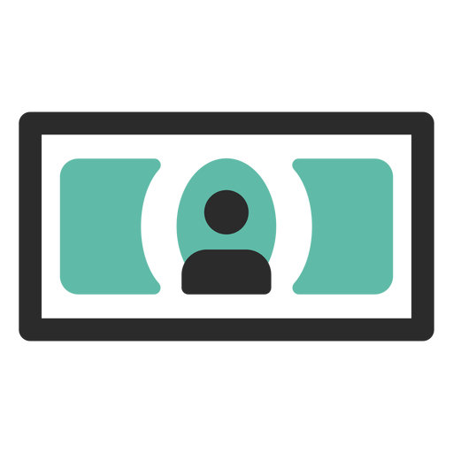 Banknote farbige Strich-Symbol Transparent PNG