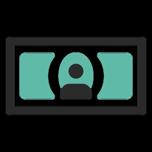 Ícone de traço colorido da nota Transparent PNG