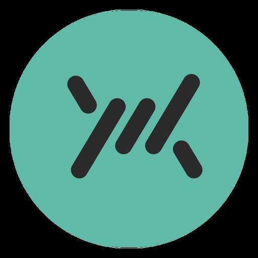 Icono de trazo de color de alambre de púas Transparent PNG