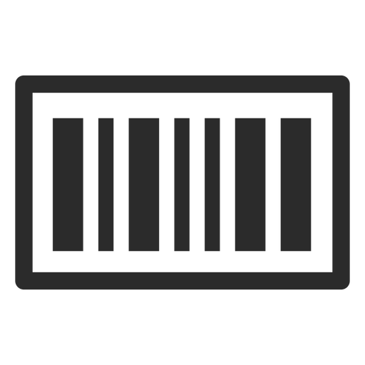 Barcode stroke icon Transparent PNG