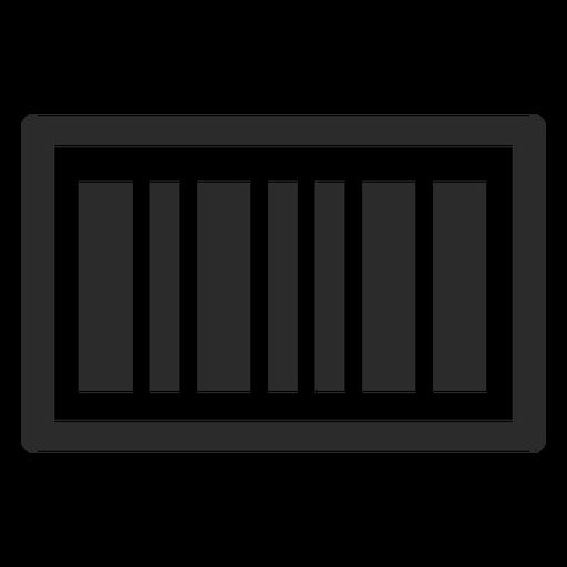 Ícone de traço de código de barras Transparent PNG