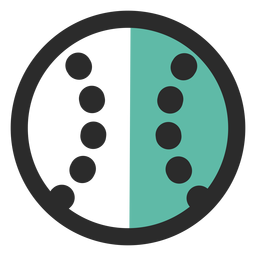 Baseball ball colored stroke icon