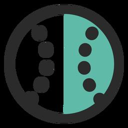 Baseball Ball farbige Strich-Symbol