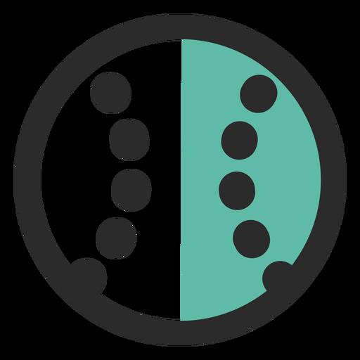 Ícone de traço colorido de bola de beisebol Transparent PNG