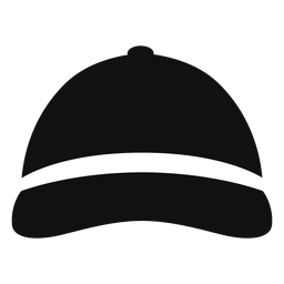 Baseball hat front view flat