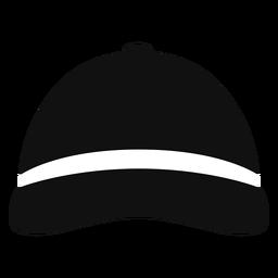 Sombrero de beisbol vista frontal plana