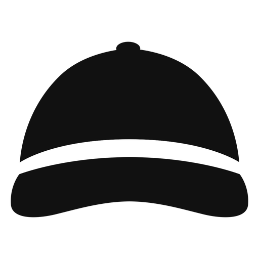 Baseball hat front view flat