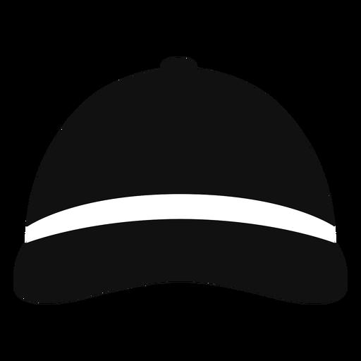 Sombrero de beisbol vista frontal plana Transparent PNG