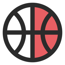 Basketball ball colored stroke icon
