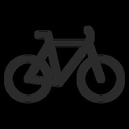 Fahrrad-Strich-Symbol