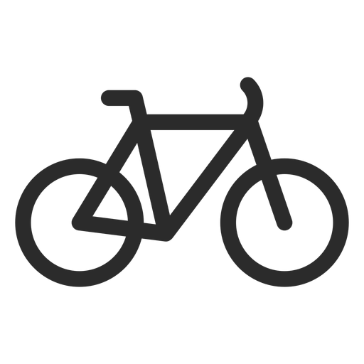 Ícone de traçado de bicicleta Transparent PNG