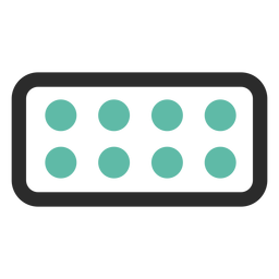 Blister pack colored stroke icon