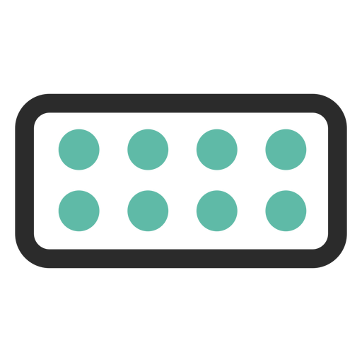 Blister pack colored stroke icon Transparent PNG