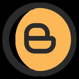 Blogger farbiges Strichsymbol