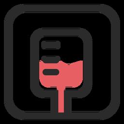 Bolsa de sangre coloreada icono