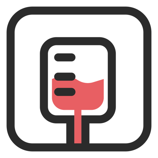 Ícone de traço colorido saco de sangue Transparent PNG