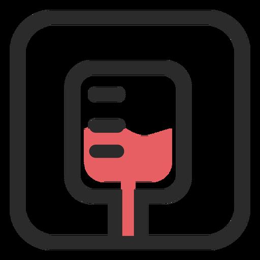 Bolsa de sangre coloreada icono Transparent PNG