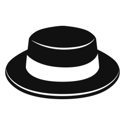 Boater hat flat icon