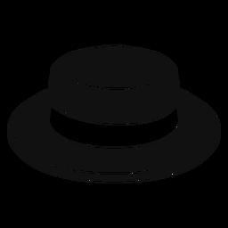 Icono plano de sombrero de navegante