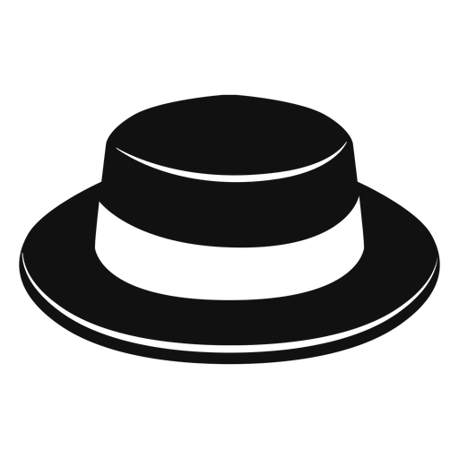 Boater hat flat icon Transparent PNG