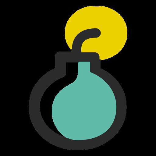 Ícone de traço colorido de bomba Transparent PNG