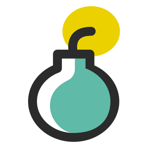 Bomb colored stroke icon Transparent PNG