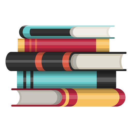 Book pile icon Transparent PNG