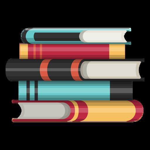 Icono de pila de libros Transparent PNG