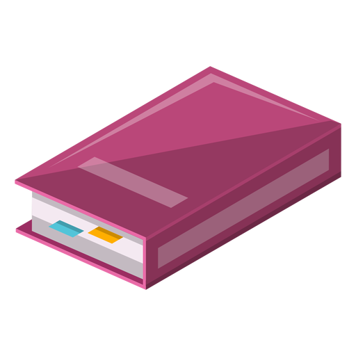 Book with sticky markers icon